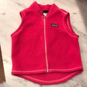 Pink Patagonia infant vest size 12m. VGUC!